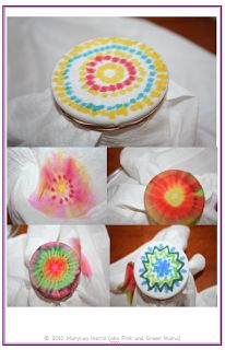 Sharpie Tie Dye Technique from * Pink and Green Mama Crafts: Rainbow Fun Art Camp Lesson Plans EBook