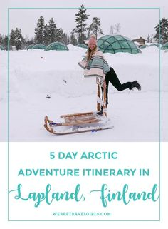 Ultimate guide to planning your Lapland itinerary staying in glass igloos and an ice hotel whilst watching the northern lights. Lappland, Cool Places To Visit, Places To Travel, Trips To Lapland, Finland Travel, Finland Trip, Lapland Finland, See The Northern Lights, Arctic Circle
