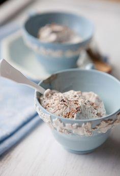 Double Coconut Ice Cream with Stracciatella | Five and Spice