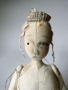 Shore Nymph  Selkie  Calico Cloth Art Doll by ThePaleRook on Etsy