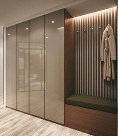 Gorgeous 45 Creative Bedroom Wardrobe Design Ideas That Inspire On Wardrobe Design Bedroom, Bedroom Bed Design, Bedroom Furniture Design, Bedroom Wardrobe, Wardrobe Closet, Simple Bedroom Design, Bedroom Decor, White Wardrobe, Mirror Bedroom