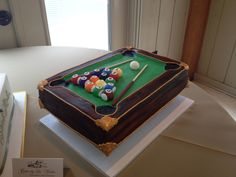 Pool table grooms cake