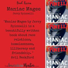 This is a summary and review of Maniac Magee by Jerry Spinelli. the characters are well-developed and the dialogue sounds realistic. Maniac Magee is a story about race relations, homelessness, illiteracy and friendship. It gives the reader insights into what the homeless goes through to survive. It demonstrates how one person can make a difference, can cross the racial divide, and bring people together. It also shows the power of friendships.