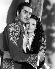 """Tyrone Power and Linda Darnell in """"The Mark of Zorro"""" (1940)"""