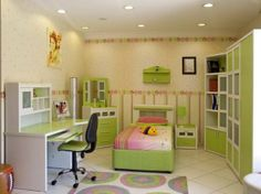 Easy Your Kids Learning Computer with Kids Computer Desk: Small Bed And Computer Desk In Kids Room ~  Design Inspiration