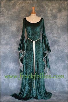 Elfen Kleid Mittelalter Kleid Gothic Kleid von frockfollies auf Etsy