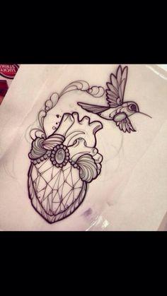 Heart & bird