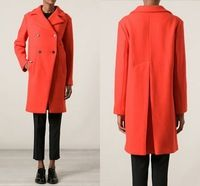 Am.nk Custom Made Tangerine Plus Size Women Clothing Cashmere Wool Gagaopt Double Breasted Long Women Winter Coats 2014 Elegant
