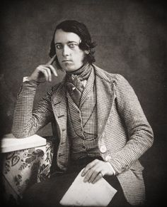 17. A gentleman. Daguerrotype, c.1845 - Light checked country jacket and waistcoat.