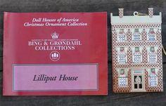 Bing & Grondahl Lilliput HOUSE Dollhouse Gold Plated Ornament
