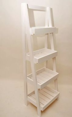 organizador escalera de madera