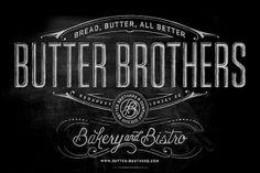 dark branding logo butter brotehrs design