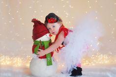 Frosty the Snowman Tutu DressTop Hat Headband by LilBirdsCouture
