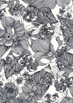 penned floral (minakani - happybuddhabreathing)