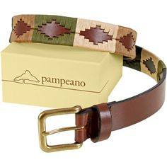 Pampeano Valiente Polo Belt This attractive Argentine polo belt has the colours of the countryside It will arrive to you gift boxed and gift bagged