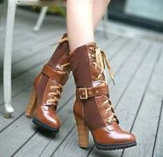 Buy Women's High Heel Boots Online with fashion design? Shoespie offers Cheap High heels leather Boots for Women and high heel ankle boots with lace, good quality and comfortable. Womens High Heel Boots, Leather High Heel Boots, Knee High Boots, Heeled Boots, Shoe Boots, Ankle Boots, Boots Online, Brown Boots, Chunky Heels