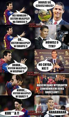 Wymiana zdań Lionela Messiego i Cristiano Ronaldo • Śmieszne zdjęcia • Cristiano Ronaldo zabawnie ripostuje Messiemu • Wejdź i zobacz >>
