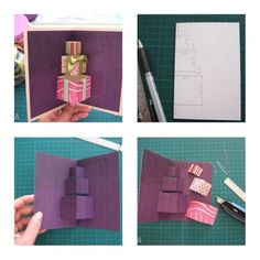 How to make Simple 3D Gift Card step by step #DIY tutorial instructions #crafts
