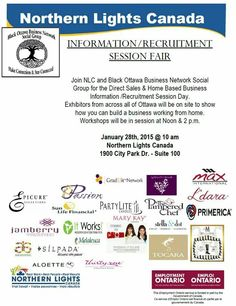 Information/Recruitment Session Fair Northern Canada, Career Path, Business Networking, Home Based Business, Direct Sales, Ottawa, Mary Kay, Group, Black