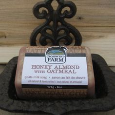Check out Cross Wind Farm -... now available on our website! http://www.peterboroughcraftworks.ca/products/cross-wind-farm-goats-milk-soap-honey-almond-oatmeal?utm_campaign=social_autopilot&utm_source=pin&utm_medium=pin