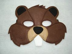 Children's Beaver Felt Woodland Animal Mask by magicalattic, $12.50