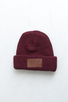Profound Aesthetic NY Club Beanie in Burgundy  http://profoundco.com/collections/beanies/products/ny-club-beanie-burgundy