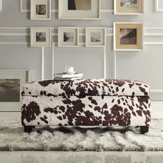 INSPIRE Q Sauganash Cowhide Print Lift Top Storage Bench - Overstock Shopping - Great Deals on INSPIRE Q Ottomans