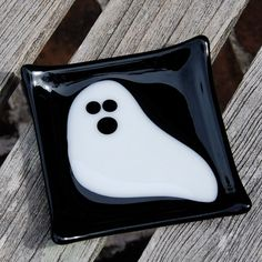 Ghost Halloween Fused Glass Dish Candy Dish by FirstLightGlass, $15.00