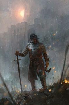 fantasy_dark — Red Season Rising by John Anthony Di. Dark Fantasy Art, Fantasy Concept Art, Fantasy Character Design, High Fantasy, Fantasy Rpg, Medieval Fantasy, Fantasy Artwork, Character Concept, Character Art