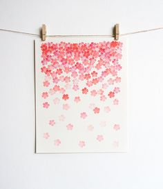 This print was inspired by one of my favorite Spring moments – when cherry blossom trees start sprinkling their petals like fragrant, pink Panda Quilt, Adult Art Classes, Cherry Blossom Tree, Blossom Trees, Sakura, Graphic Design Inspiration, Style Inspiration, Tahitian Pearls, Deco