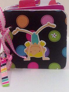 Gymnastics chipboard scrapbook premade brag book on Etsy, $23.00