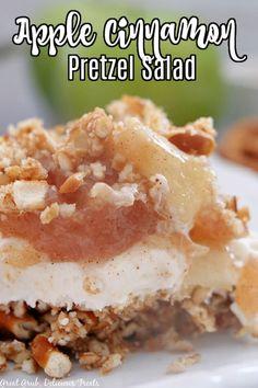 Pretzel Desserts, Cinnamon Desserts, Trifle Desserts, Dessert Salads, Apple Cinnamon Cake, Apple Cake, Baked Cinnamon Apples, Dessert Ideas, Fruit Salads