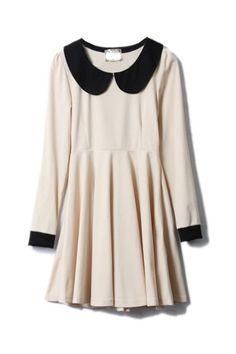 retro peter pal collar dress $36.99
