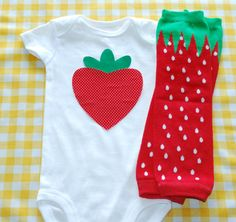 Strawberry Bodysuit with leg warmers by MiaSophiaBoutique on Etsy, $25.00