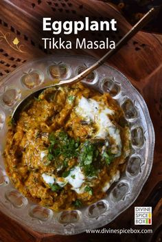 Indian curry for - Eggplant Tikka masala Veg Recipes, Curry Recipes, Indian Food Recipes, Cooking Recipes, Indian Snacks, Indian Appetizers, Cooking Tips, Indian Vegetarian Recipes, Recipies
