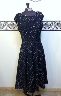 Hey, I found this really awesome Etsy listing at https://www.etsy.com/listing/192177417/80s-does-50s-black-and-white-polka-dot