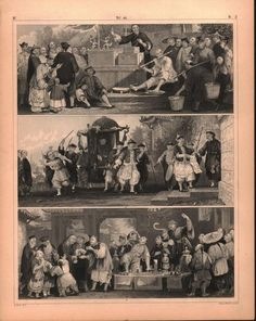 Chinese Puppet Show Mandarin Quack Antique Print 1857