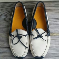 Cole Haan Men Driving Moccasins Ivory and Black Driving Moccans, lightly worn,  comfortable men shoe, very good condition. Cole Haan Shoes Moccasins