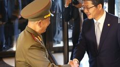 With Kim Jong Un out of sight for a month, some North Korean high officials popped down to South Korea on Saturday, and delivered a diplomatic bonbon.