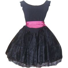 Vintage Black Best Ever Betsey Johnson Party Prom Dress Punk Label - available from The Vintage Carousel on Ruby Lane.