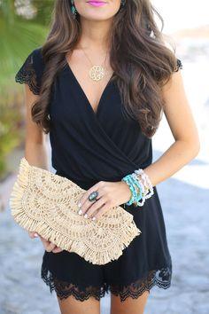 Black Lace Romper...