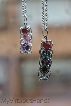 Caged Beads  •  Free tutorial with pictures on how to make a charm necklace in under 30 minutes