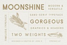 Moonshine Font | Classic Sans Serif by Josh O. on @creativemarket