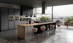 There is a lot of people today, tend to have modern kitchen design ideas for their new house. However, there is a lot of things that you need to know before creating modern kitchen design. Farmhouse Style Kitchen, Modern Farmhouse Kitchens, Black Kitchens, Home Decor Kitchen, Rustic Kitchen, Kitchen Interior, Home Kitchens, Kitchen Ideas, Modern Kitchens With Islands