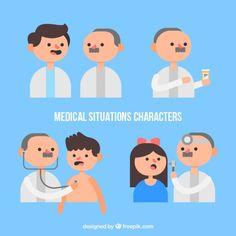 Médico con pacientes