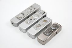 A range of Minox subminiature cameras
