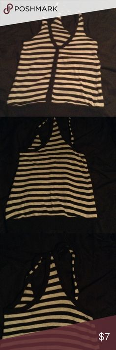Striped vest Gently used striped vest Sweaters Cardigans
