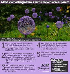Make Everlasting Alliums with Chicken Wire & Paint!