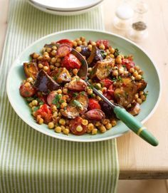 Moroccan vegetables and chickpeas