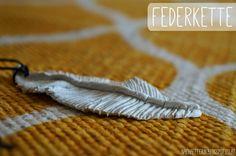 Federkette aus Fimo Blogging, Fimo, Necklaces